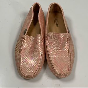 Escada - irredentist pink snake loafers
